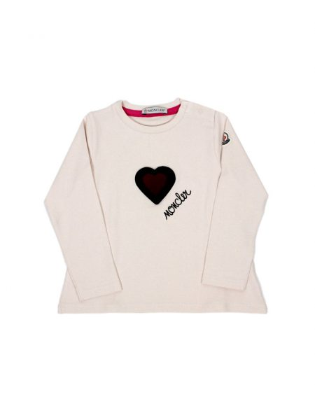 T-shirt Moncler Manica Lunga e stampa Cuore