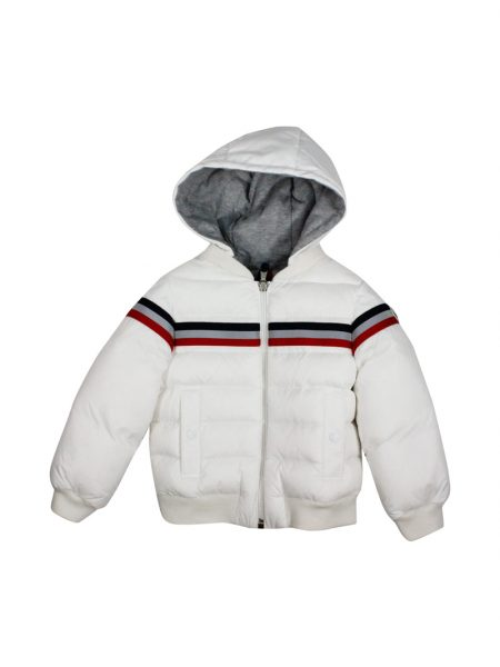 Piumino Moncler Perd Baby colore bianco