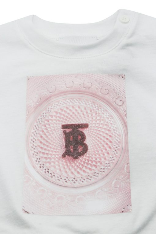 T-shirt Burberry Baby con stampa dolciumi colore Bianco (8036936)