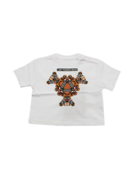 T-shirt Burberry Baby in cotone con stampa collage Bianca (8041231)
