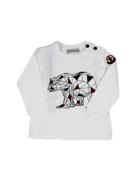 T-shirt Moncler Baby con stampa in 3D Colore Bianco (G29518D72120)