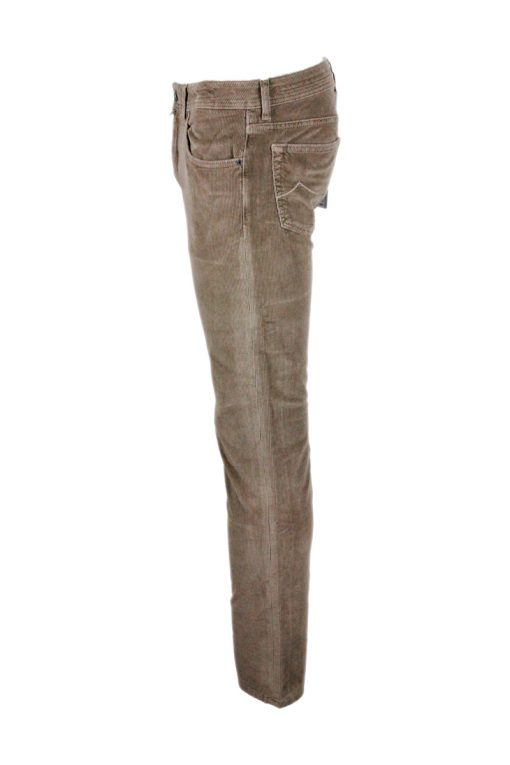 Pantalone Jacob Cohen in Velluto millerighe Colore Taupe (J688BARD)